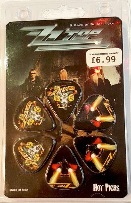 ZZ Top Guitar Picks 6 Pack